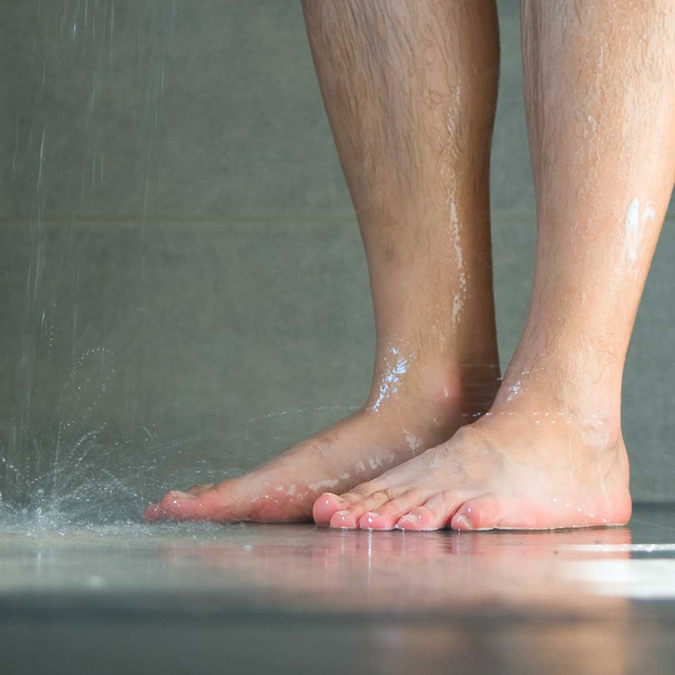 Athletes foot in shower